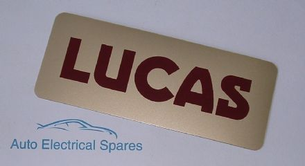 Lucas battery LABEL / STICKER / DECAL